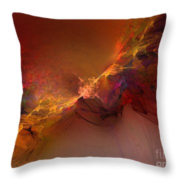 Elemental Force-abstract Art Throw Pillow