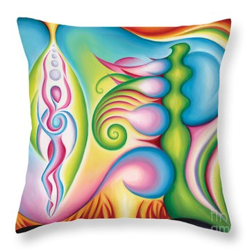 Elemental Goddess Throw Pillow by Tiffany Davis-Rustam
