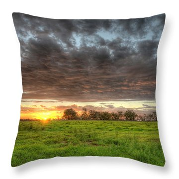 Elements Of A Waimea Sunset Throw Pillow