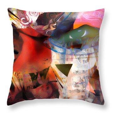 Elements Of Estrogen  Throw Pillow