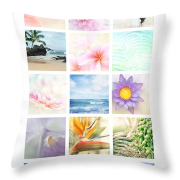 Elements Throw Pillow by Sharon Mau