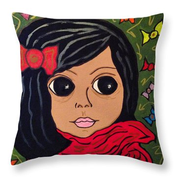 Elena Throw Pillow by Chrissy  Pena
