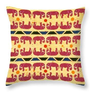 Elephant Dance Throw Pillow