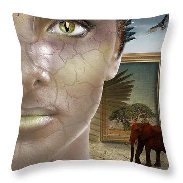 Elephant Dream Throw Pillow