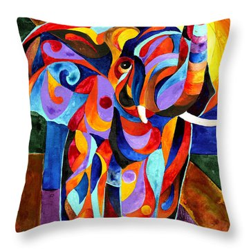 Elephant Dream Throw Pillow