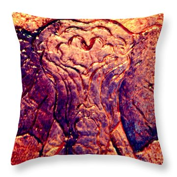 Throw Pillow featuring the painting Elephant Dreams by D Renee Wilson