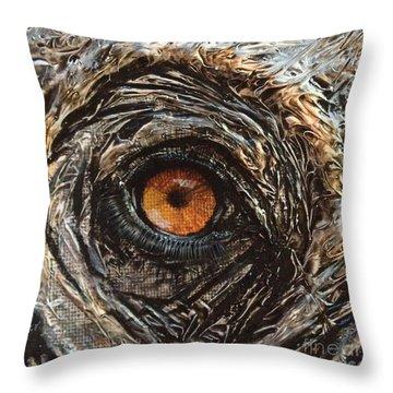 Elephant Eye Throw Pillow by Laurianna Taylor