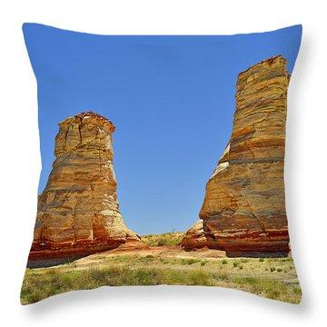 Elephant Feet Rocks Arizona Throw Pillow by Christine Till