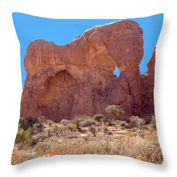 Throw Pillow featuring the photograph Elephant In The Rock by John M Bailey