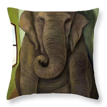 Elephant In The Room Wip Throw Pillow