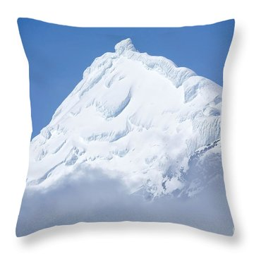 Elephant Island Mountain Peak Throw Pillow