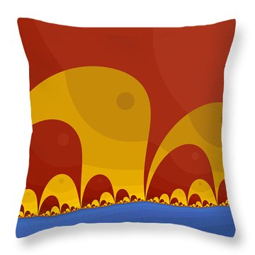 Throw Pillow featuring the digital art Elephant Lake by Mark Greenberg