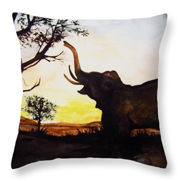 Elephant Throw Pillow by Laneea Tolley