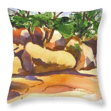 Elephant Rocks Revisited I Throw Pillow