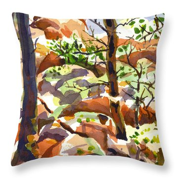 Elephant Rocks Revisited IIb Throw Pillow by Kip DeVore