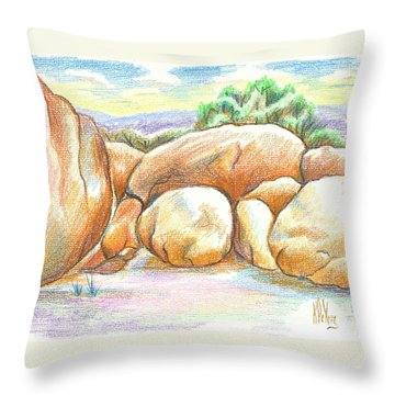 Elephant Rocks State Park II  No C103 Throw Pillow