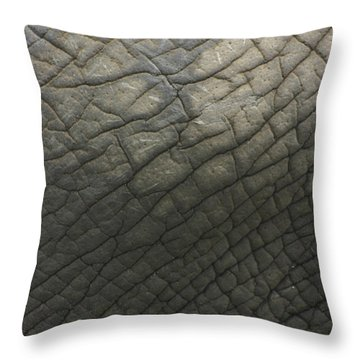 Elephant Skin Throw Pillow