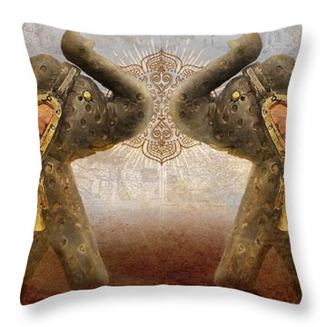 Elephants I Throw Pillow