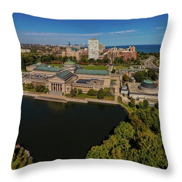 Elevated View Of The Museum Of Science Throw Pillow