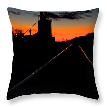 Elevator Sunset Throw Pillow