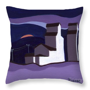 Elevators At Night Throw Pillow