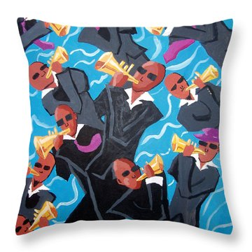 Eleven Pipers Piping Throw Pillow by Whitney Morton