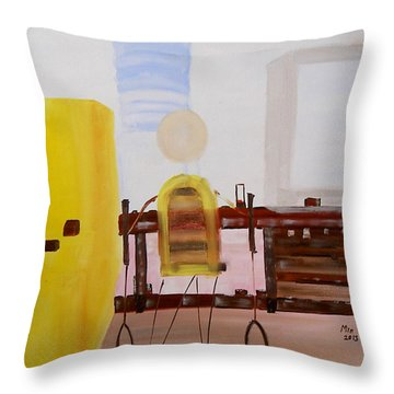 Throw Pillow featuring the painting Elf by Min Zou