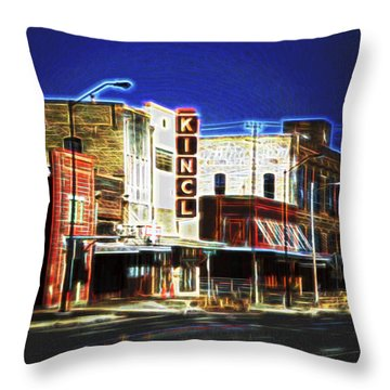 Elgin Old Town Street Throw Pillow by Linda Phelps