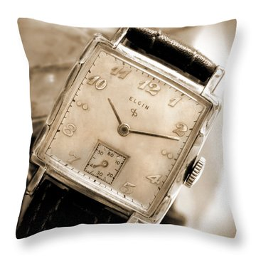 Elgin Watches Throw Pillow by Mike McGlothlen