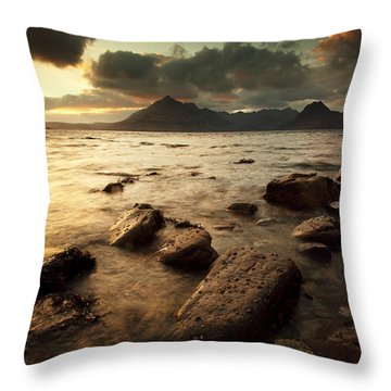Elgol Throw Pillow by Grant Glendinning