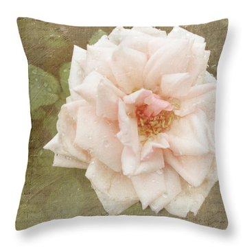 Elie Beauvillain Rose Textured Art Throw Pillow