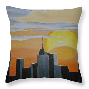 Elipse At Sunrise Throw Pillow by Donna Blossom