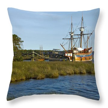 Throw Pillow featuring the photograph Elizabeth II In Port  by Greg Reed