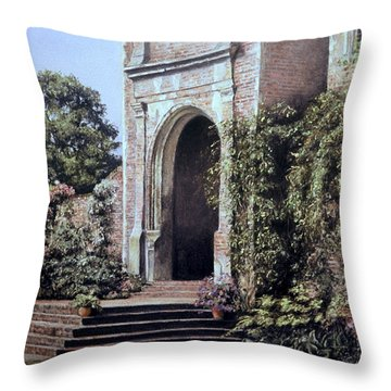 Elizabethan Tower Throw Pillow