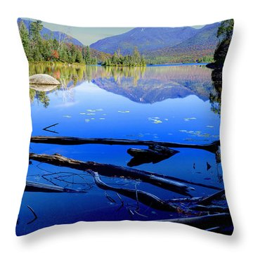 Elk Lake Throw Pillow