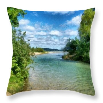 Elk River- Elk Rapids Michigan Throw Pillow
