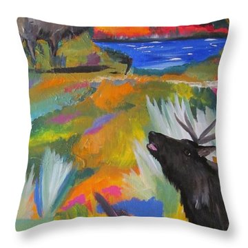 Bugle Boys Throw Pillow