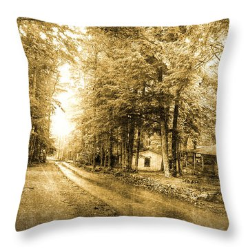 Elkmont Ghost Town Throw Pillow