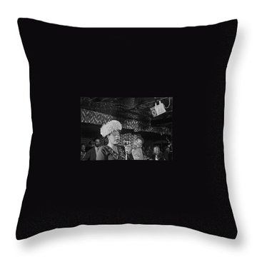 Ella Fitzgerald And Dizzy Gillespie William Gottleib Photo Unknown Location September 1947-2014. Throw Pillow by David Lee Guss