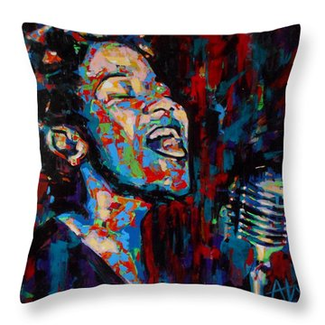Ella Fitzgerald Throw Pillow