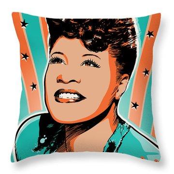 Ella Fitzgerald Pop Art Throw Pillow