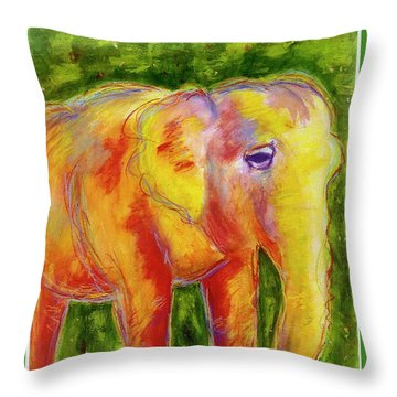 Elle Throw Pillow by Beth Saffer