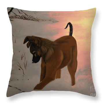 Throw Pillow featuring the painting Ellee by Stuart Engel