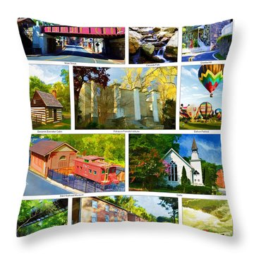 Throw Pillow featuring the photograph Ellicott City Maryland by Dana Sohr