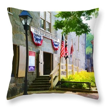 Throw Pillow featuring the photograph Ellicott City Station by Dana Sohr