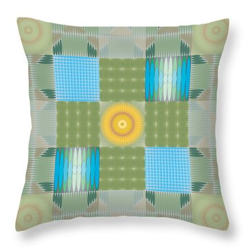 Throw Pillow featuring the digital art Ellipse Quilt 1 by Kevin McLaughlin