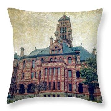 Ellis County Courthouse Throw Pillow