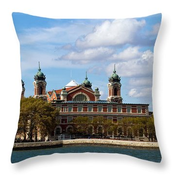 Throw Pillow featuring the photograph Ellis Island by Eleanor Abramson