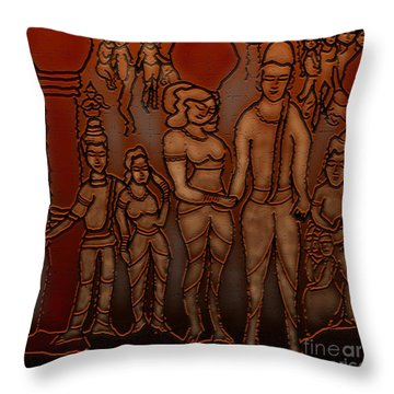 Ellora Throw Pillow by Latha Gokuldas Panicker