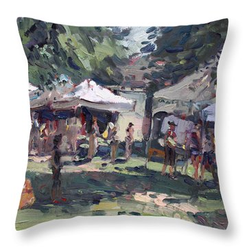 Farmers Market Throw Pillows
